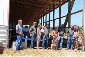 Summit Livestock Facilities, Beef Barns, Monoslope, Open House