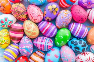 Painted Easter Eggs, Summit Livestock Facilities